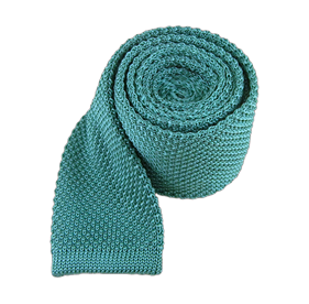 Aqua Knitted ties