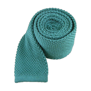 knitted aqua ties
