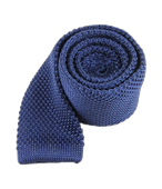 Ties - Knitted - Whale Blue