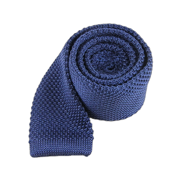 Whale Blue Knitted Tie