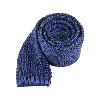 knitted whale blue ties
