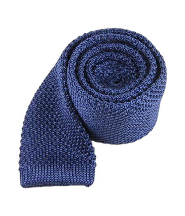 Knitted Whale Blue Tie