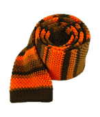 Ties - Knit Colorful Stripe - Tangerine