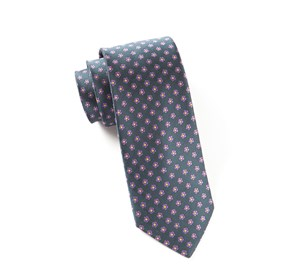 Steel Grey Anemones ties