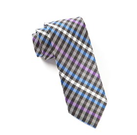 Purple Ivy Checked ties