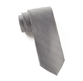 Black Native Herringbone ties