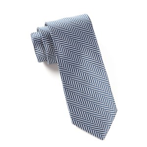 native herringbone navy ties