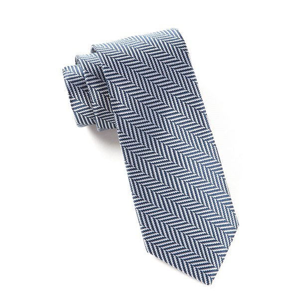 Navy Native Herringbone Tie