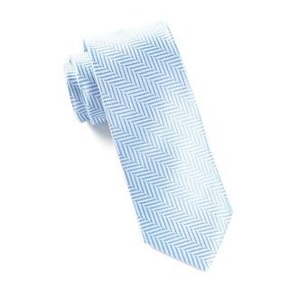Native Herringbone Light Blue Tie