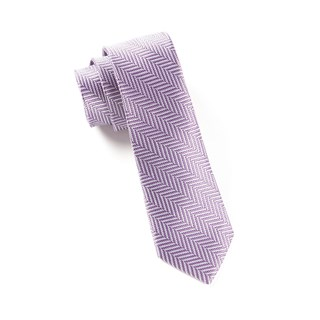native herringbone lavender ties