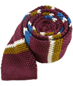 Ties - Doss Knit Stripe - Wine
