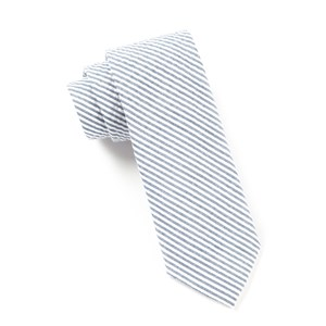 seersucker midnight navy ties