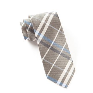 Barnegat Plaid Light Taupe Tie