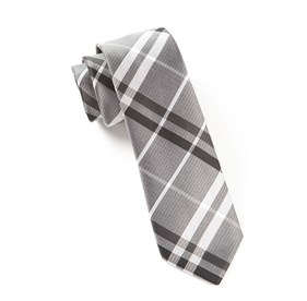 Silver Barnegat Plaid ties