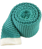 Ties - Tipped Knit (FS) - Aqua