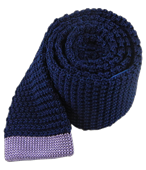 Ties - Tipped Knit - Classic Navy