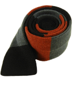 Ties - Knit Wool Master Stripe - Cinnamon