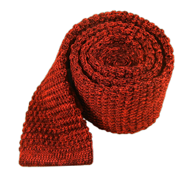 Red Scramble Knit ties