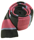 Ties - Knit Stacked Stripe - Charcoal