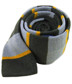 Ties - Knit Stacked Stripe - Grey