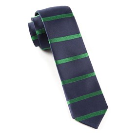 Classic Navy Road Horizontal Stripe ties