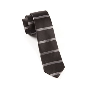 Black Road Horizontal Stripe ties
