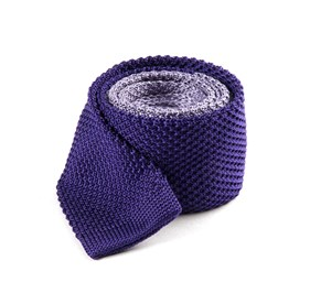 Lilac Color Blocked Knit ties