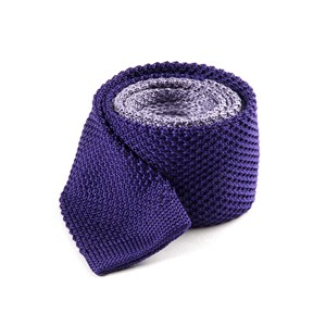 color blocked knit lilac ties