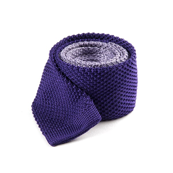 Lilac Color Blocked Knit Tie