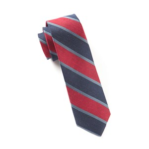 linen bold stripe red ties