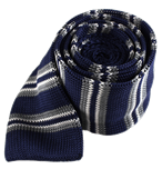 Ties - Crew Knit Stripe - Navy