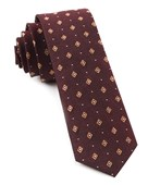 Ties - Deck The Halls - Deep Burgundy