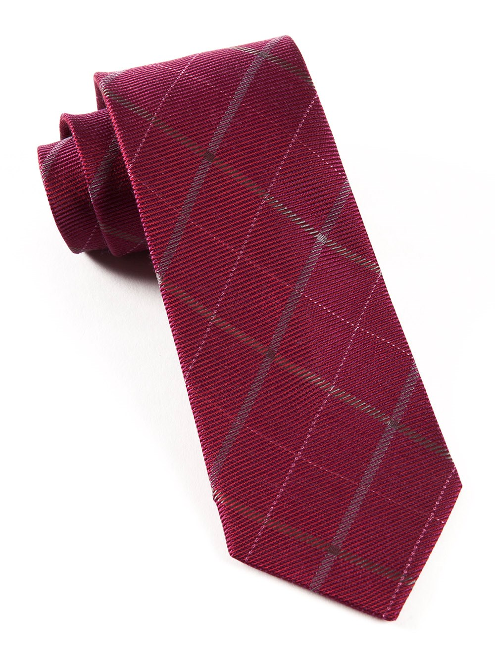 "Sheridan Plaid - Raspberry - 3"" x 58"" - Ties"
