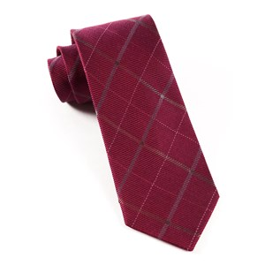 sheridan plaid raspberry ties