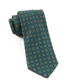 Ties - Era Medallions - Green Teal