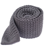 Ties - Textured Solid Knit - Grey