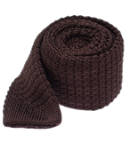 Ties - Textured Solid Knit - Chocolate