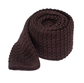 Chocolate Textured Solid Knit ties