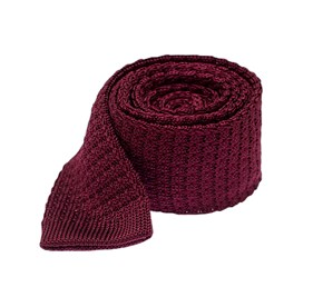 Deep Burgundy Textured Solid Knit ties