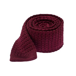 textured solid knit deep burgundy ties