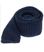 Ties - Textured Solid Knit - Navy