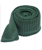 Ties - Textured Solid Knit - Hunter Green