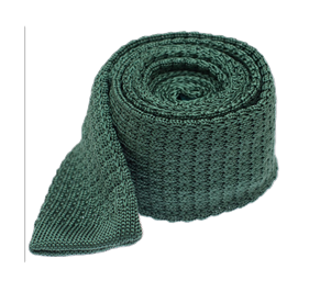Hunter Green Textured Solid Knit ties