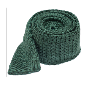 textured solid knit hunter green ties