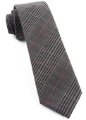 Ties - Agent Plaid - Charcoal