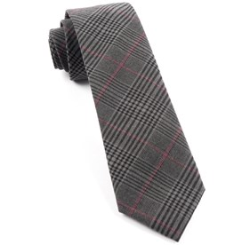 Agent Plaid Charcoal Ties