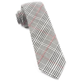 Agent Plaid Black Ties