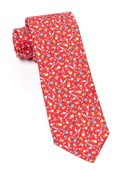 Ties - Fentone Floral - Apple Red
