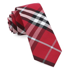 legion plaid raspberry ties
