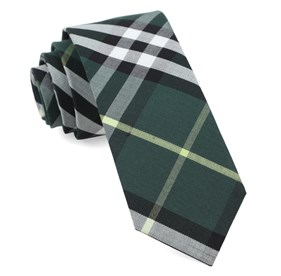 Hunter Green Legion Plaid ties